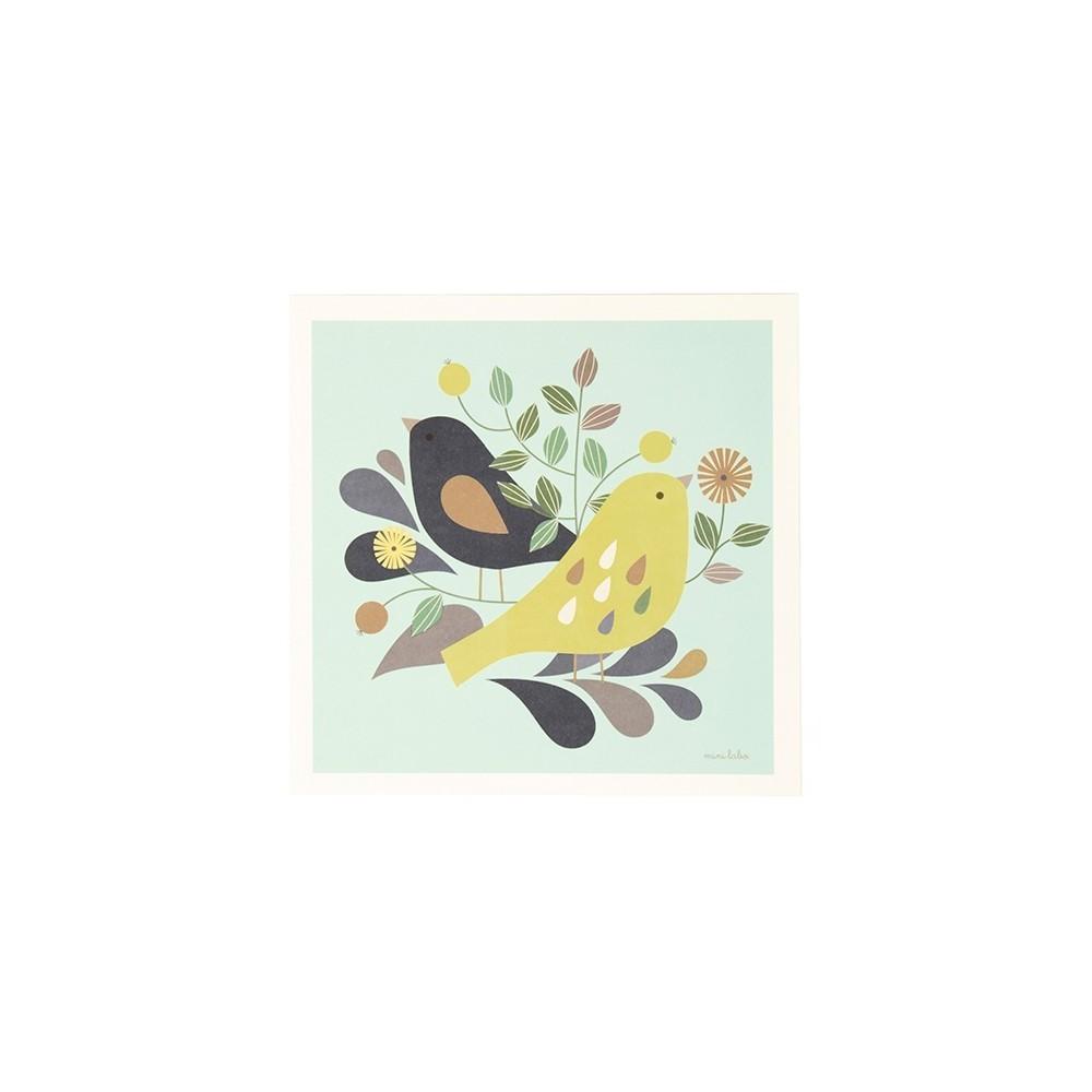 Affiche Duo Oiseaux