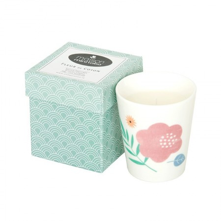 Cotton flower scented Candle