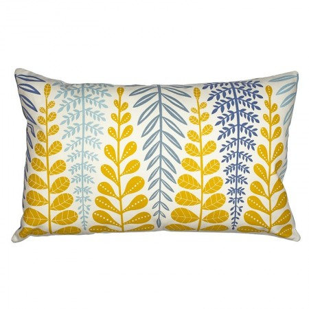 Branches yellow Cushion