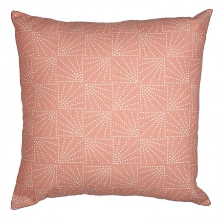 Coussin Eventail corail