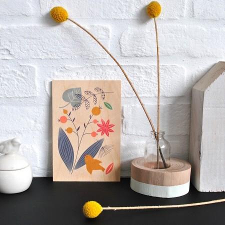 Poetry wood postal cards