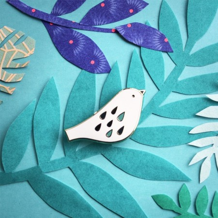 Pin's Oiseau Sweet bird Blanc