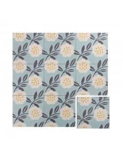 Ciment tile Camellia Slate 7