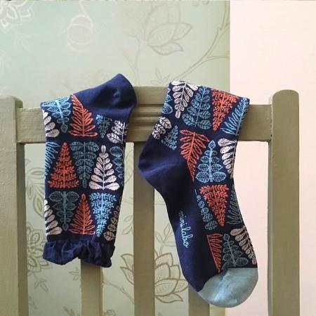 Chaussettes fantaisie en Jacquard motif Branche