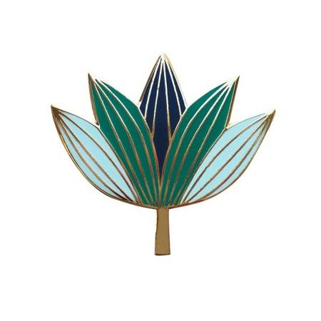 Pin's Lotus vert