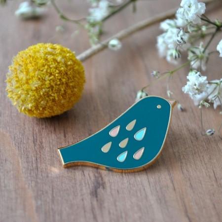 Pin's Oiseau Sweet turquoise