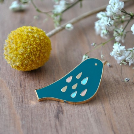 Sweet turquoise Brid Pin's