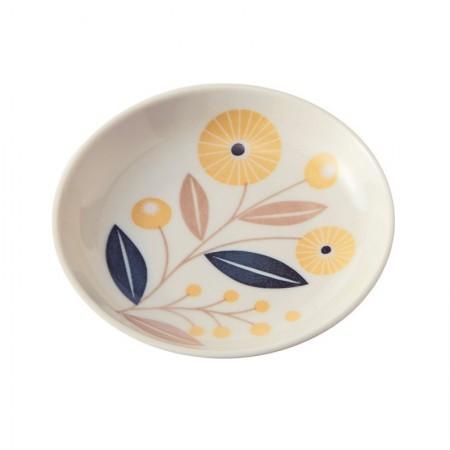Coupelle en porcelaine motif Bouton d'or