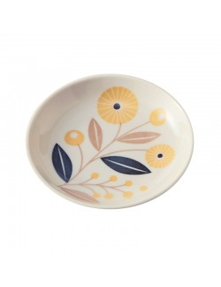 Coupelle en porcelaine motif Bouton d'or