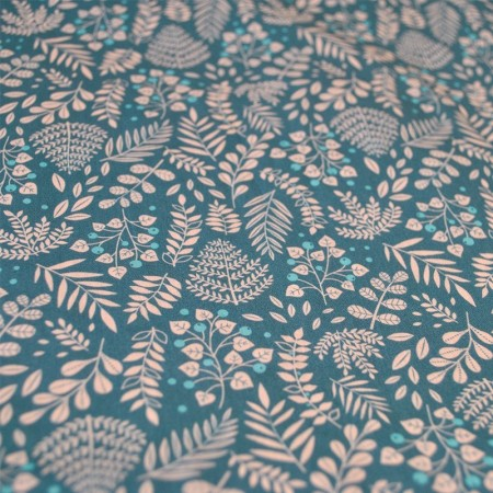 Grey bush pattern fabric