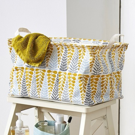 Yellow rectangular Branches Basket