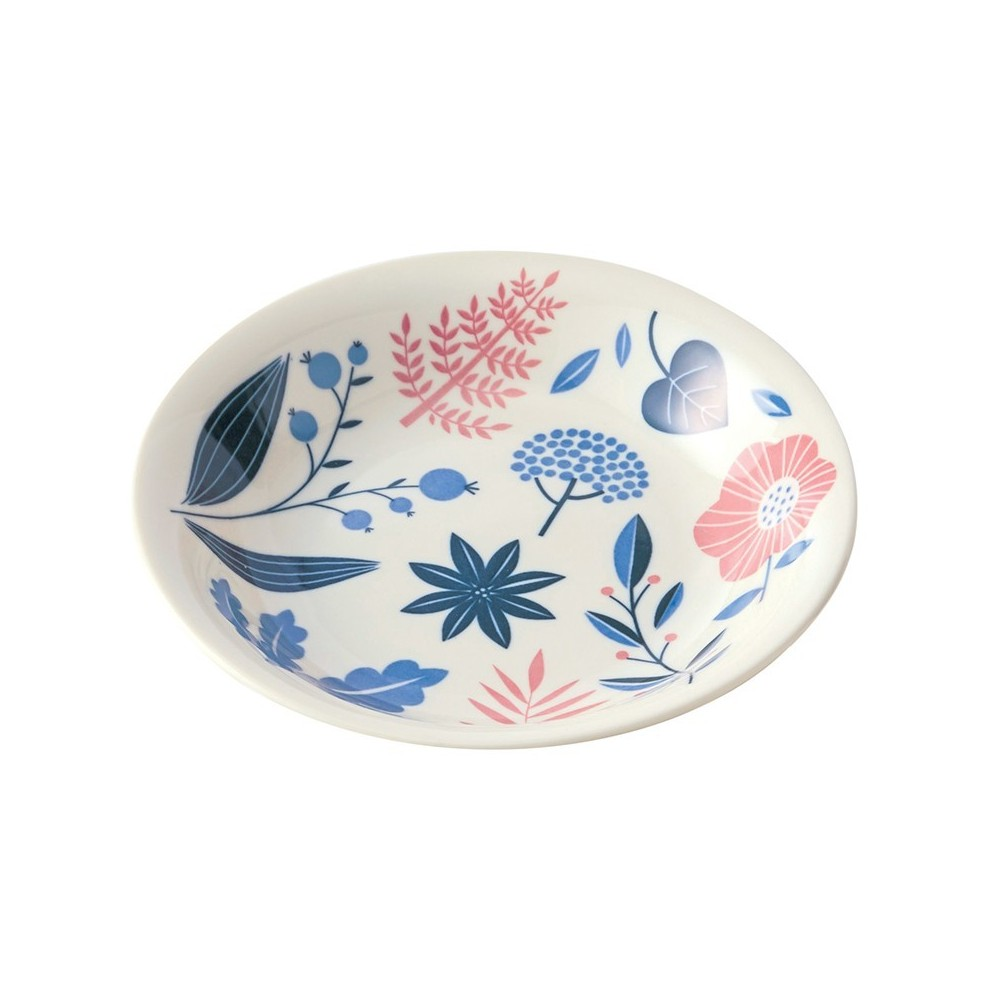Porcelain plate with bush pattern