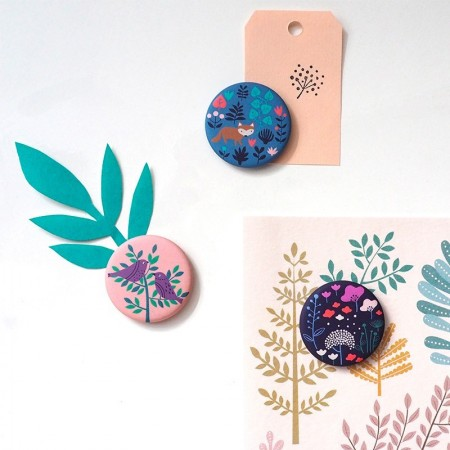 3 round Magnet with fairy pattern