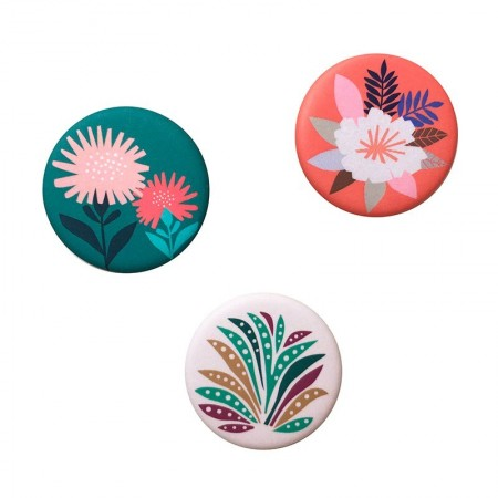 Lot de 3 aimants rond motifs Papercut