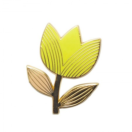 Lemon Graphic Tulip Pin's