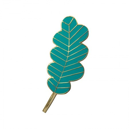 Large Turquoise Leaf Pin's