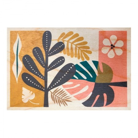 Tropical wood postal cards