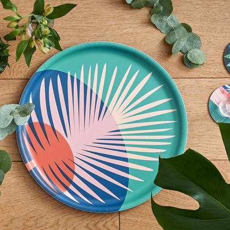 Feather round Tray