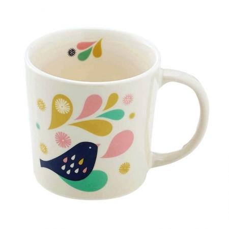 Mug en porcelaine motif Plumes