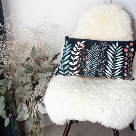 Coussin Motif Jardin en coton