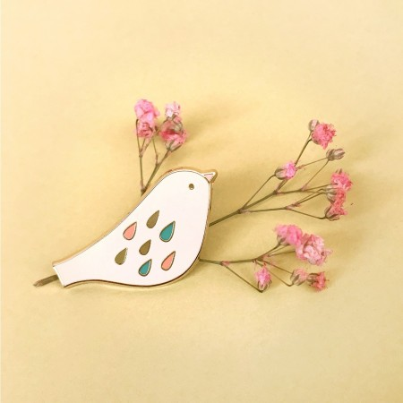 Pin's Oiseau Sweet Poudre