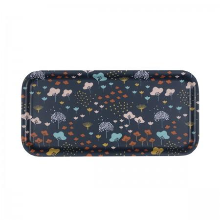 Plateau rectangulaire en bouleau motif Lullaby - 28x14cm -