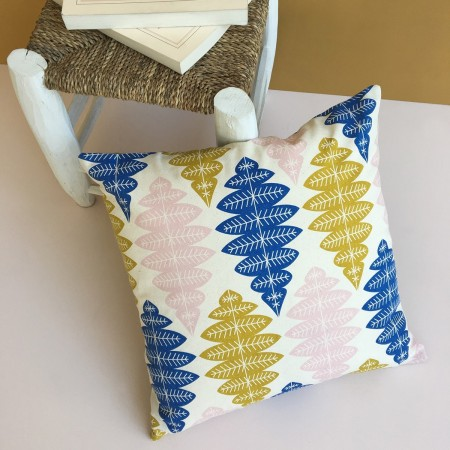 Cotton Pink Ikat Cushion
