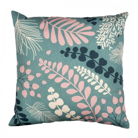 Cotton Coral Blossom Cushion