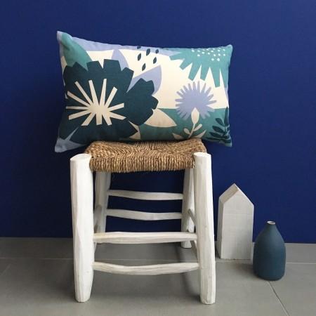 Cotton Blue Papercut Cushion