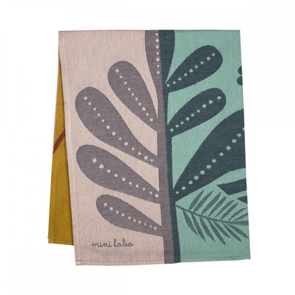 Torchon motif Tropic en Jacquard