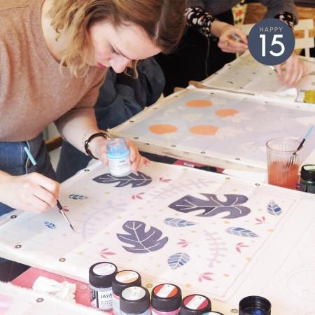 Atelier peinture sur soie x Sokina la Récolte