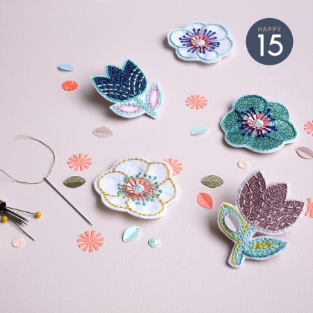 Atelier Broches broderie créative x Atelier Afternoon au Pop up store Mini labo