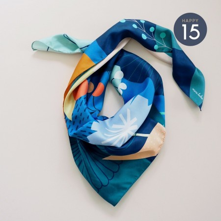 Carousel silk square scarf