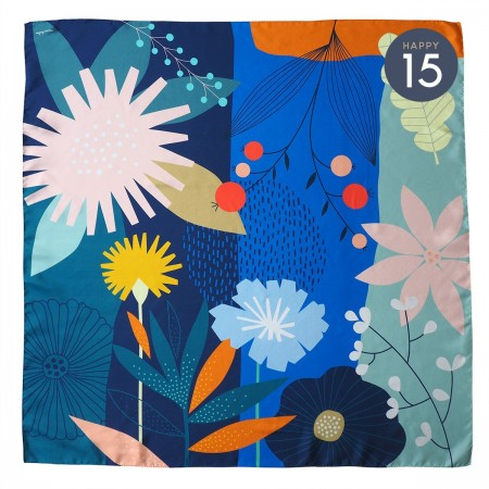 Carousel silk square scarf
