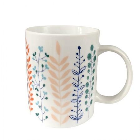 Porcelain mug with Garden motif