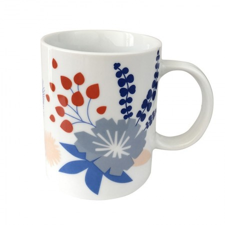 Porcelain mug with Poetry motif