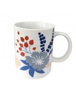 Porcelain mug with Poetry motif