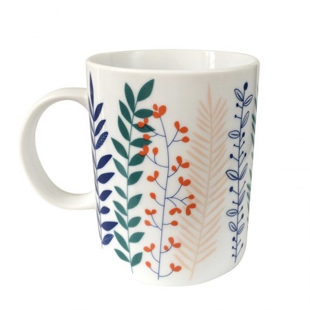 Porcelain mug with Garden motif