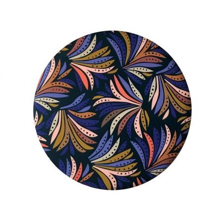 Miroir rond de poche motif Aloes