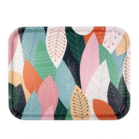 Plateau rectangulaire en bouleau motif Papercut - 43x33cm -