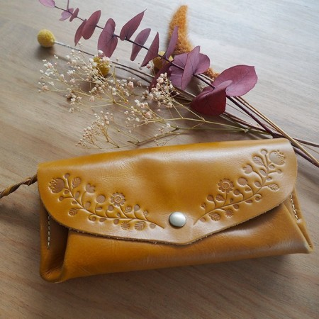 Honey leather wallet