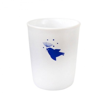 Porcelain cup indigo blue flight