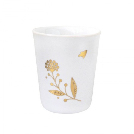 Porcelain cup gold bouquet