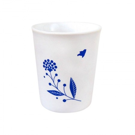 Porcelain cup indigo blue bouquet
