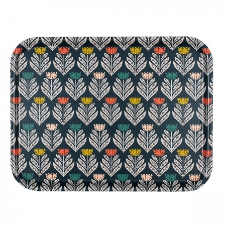 Tulip rectangular Brich Tray - 43x33cm -