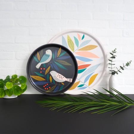 Birds round Tray - 35 cm -