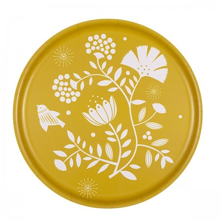 Indian lemon round Tray - 35 cm -