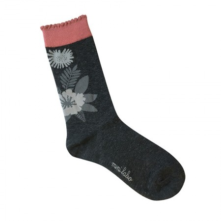 Jacquard socks with Graphic Papercut Pattern