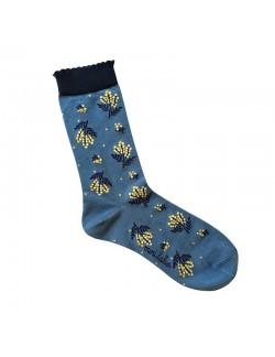 Jacquard socks with Graphic Papercut Pattern