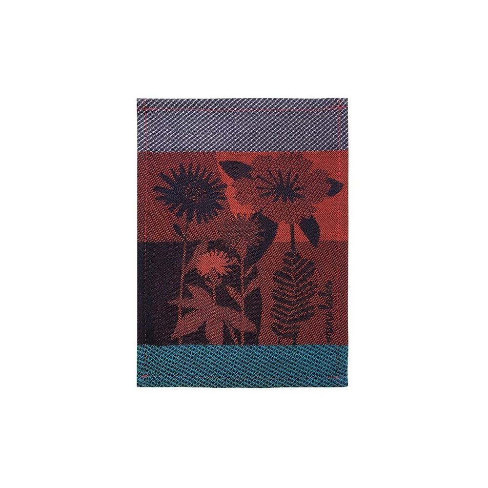 Para tapas tissé Jacquard motif Bouquet
